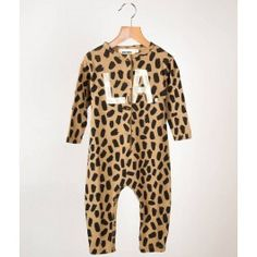 Bobo Choses Jumpsuit with Leopard Print #designer #baby #fashion
