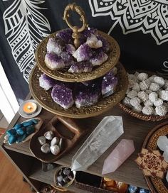 But if you would like to see us go antiquing and thrifting for… Chakra Crystals, Crystals And Gemstones, Stones And Crystals, Ice Crystals, Wicca, Crystal Magic, Crystal Shop, Crystal Decor, Crystal Jewelry
