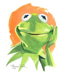 Kermit The Frog by Webbitup on Etsy
