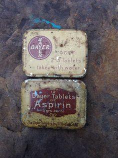 Bayer Aspirin Vintage Tin by 4DogCafe on Etsy, $3.00