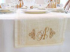 País rústico mesa corredor  arpillera tabla tabla de la boda