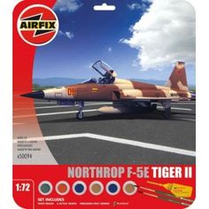 Northrop Tiger II by Airfix - United States Marine Corps, MCAS Yuma, USA Set includes Humbrol poly cement, 2 paint brushes and 6 acrylic paints. Airfix Models, Tiger Ii, Marine Corps, Things To Buy, United States, Painting, Painting Art, Paintings, Painted Canvas