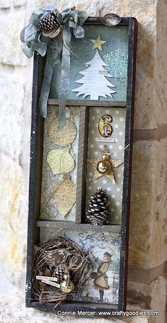 Hi guys!!!I have a shadow box to show you using Darkroom Doors, new, Christmas stamps. ...