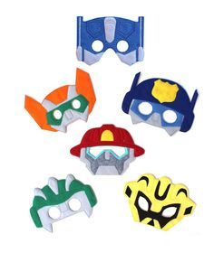Kids Face Mask Halloween Transformers Costume Rescue Bots Party Favors Robots in Clothing, Shoes & Accessories, Costumes, Reenactment, Theater, Accessories | eBay