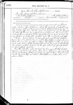 Jana's Genealogy and Family History Blog: Ole Anthon Christopherson's Last Will and Testament Last Will And Testament, In His Presence, Passed Away, Family History, Genealogy, Meant To Be, Blog, Blogging