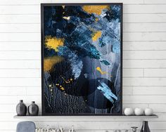 Navy and Gold Abstract, Blue and Gold, Abstract Art Print, Scandi Abstract Art, Scandinavian Abstract Art, Abstract Print, Abstract Scandi THESE ARE INSTANT DOWNLOADS – Your files will be available instantly after purchase. :::: Please note that this is a digital download ONLY,