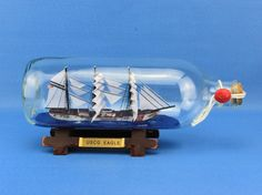 "USCG Eagle Ship In A Bottle 9"" SHIPS IN A BOTTLES 
