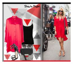 Day to Night: Red Shirt Dress... by unamiradaatuarmario on Polyvore featuring moda, Dušan, River Island, Alexander Wang, Joolz by Martha Calvo, Fendi and DayToNight