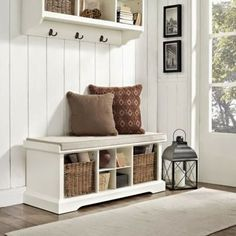 2 Girls, 1 Year, 730 Moments to Share: Entryway Bench Idea Inspiration!