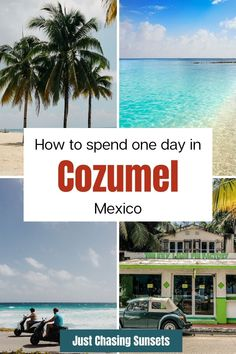Are you planning to travel to Cozumel? Whether you get there by cruise ship or ferry, once you're on Cozumel Island it's time to discover the best things to do! Hint: rent a scooter to get to the best beaches in Cozumel, Mexico. Check out this post for all of the details. Cozumel Mexico, Mexico Vacation, Mexico Travel, Mexico Destinations, Amazing Destinations, Travel For A Year, Cozumel Island, Merida Mexico, Travel Pics