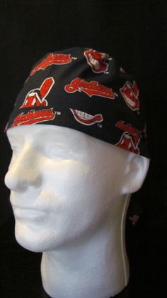Cleveland Indians Baseball Tie Back Surgical Scrub Hat Cap by TipTopLids on Etsy