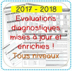 Evaluations diagnostiques Program Evaluation, Kids Library, Cycle 2, Math Art, French Immersion, Teaching French, Weekly Planner, Self Help, Classroom
