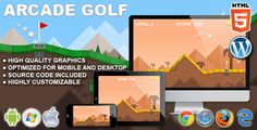 Arcade Golf - HTML5 Sport Game . Arcade Golf is a HTML5 sport game. Play through the 10 holes of this minimal flat golf. Shoot the ball in all the holes with the least hits