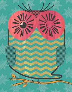 Owltastic 8x10 or 11x14 by Dashandash on Etsy