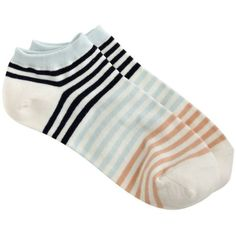 J.Crew Striped Ankle Socks ($11) ❤ liked on Polyvore featuring intimates, hosiery, socks, tennis socks, j crew socks, j.crew, striped socks и ankle socks