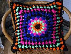 Granny Pillow Crochet Pattern  Free pattern