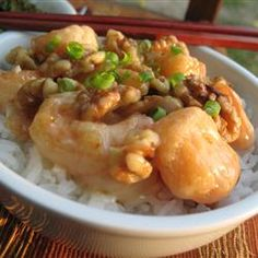 "Honey Walnut Shrimp | ""This recipe was spot on. If you crave Panda Express honey walnut shrimp, this is the recipe! I used Goya rice flour and it cooked perfectly. Will be making this again!"""