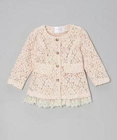 Take a look at this Pink Lace Jacket - Toddler & Girls by Blossom Couture on #zulily today!