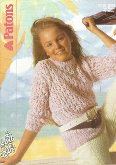 PDF Knitting Pattern This is a Pretty Jumper knitting pattern. Patons Sea-Spray or Paton Cotton You could use any DK worked to stated Jumper Knitting Pattern, Knitting Patterns, Crochet Patterns, Sea Spray, Vintage Knitting, Knit Crochet, Cardigans, Sweaters, Trending Outfits