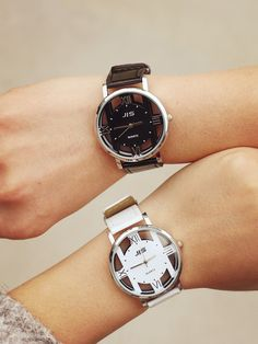 Great gift for him. Elegant wrist men watch made of leather, glass and stainless steel – a unique product by fashionclothes via en.DaWanda.com