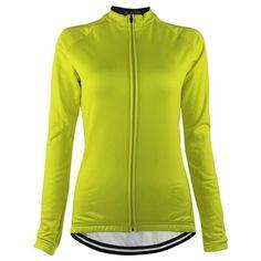 Women's High Viz Fleeced Long Sleeve Cycling Jersey-Online Cycling Gear Mountain Bike Jerseys, Mountain Bike Shoes, Women's Cycling Jersey, Cycling Gear, Cycling Jerseys, Cycling Underwear, Female Cyclist, Keep Warm, Cool Bike Accessories