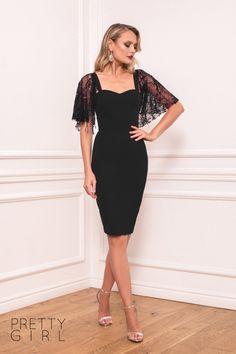 Girl Fashion, Cold Shoulder Dress, Bodycon Dress, Pretty, Events, Black, Dresses, Tulle, Fiestas