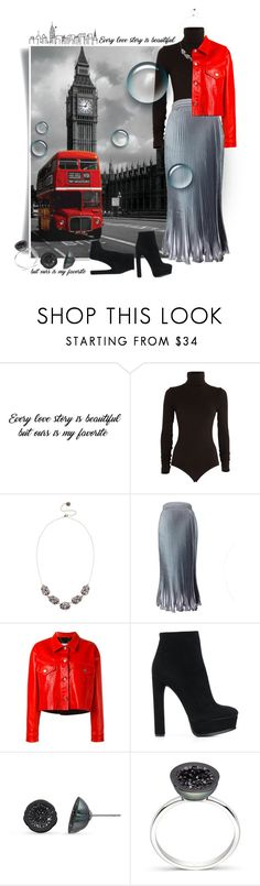 """Без названия #2255"" by marina-smile-nazarenko ❤ liked on Polyvore featuring Wolford, Lipsy, Golden Goose and Casadei"