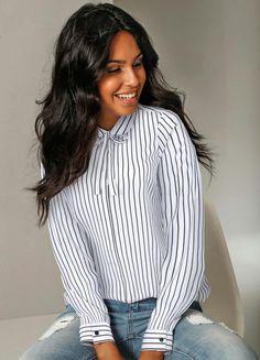 be11b5a26 14 melhores imagens da pasta camisa gola laço | Cute dresses ...