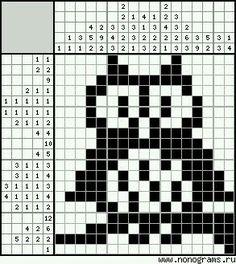 Cross Stitch Borders, Cross Stitch Alphabet, Cross Stitch Animals, Cross Stitch Embroidery, Owl Knitting Pattern, Knitting Charts, Fuse Bead Patterns, Stitch Patterns, Mini Christmas Stockings