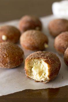 Maple Vanilla Cream Stuffed Chai Doughnuts | girlversusdough.com @girlversusdough