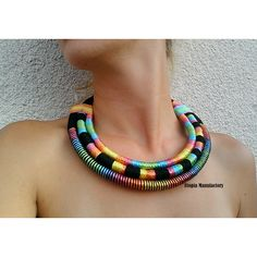 RiRi, African necklace, african jewelry, massai necklace, statement... ($66) ❤ liked on Polyvore featuring jewelry, necklaces, african necklaces, african jewelry, statement necklaces, rope necklace and african jewellery