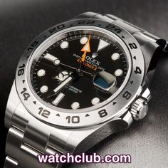 Rolex Explorer II 42mm 'Orange Hand' - Rolex Warranty REF: 216570   Year Mar 2014 - Under Rolex guarantee until March 2016! Latest model Explorer II Orange Hand 'Steve McQueen' ref.216570. Sporting a black luminous dial and powered by Rolex's chronometer rated automatic movement with dual time function. fitted to the latest steel Oyster bracelet and waterproof to 100m - for sale at Watch Club, 28 Old Bond Street, Mayfair, London