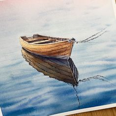 #watercolor #painting #drawing #art #aquarelle #artlulebedeva #arts_help #arts_gallery #topcreator #art_spotlight #kalachevaschool #рисунок #акварель #boat
