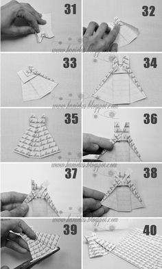 Origami Dress Tutorial ♥