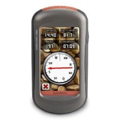 Garmin Oregon 450 Handheld GPS Navigator. This is the bad boy I use when geocaching!