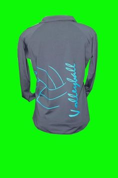This female cut, charcoal fleece lined performance top is great for staying warm in the gym or for an outdoor workout. Extra stretchy, fleece lined, and features sport moisture wicking technology. Volleyball Team Shirts, Volleyball Shirt Designs, Volleyball Outfits, Volleyball Mom, Coaching Volleyball, Cheer Shirts, Mom Shirts, Volleyball Snacks, Volleyball Poses