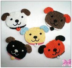 ... head crochet appliques each