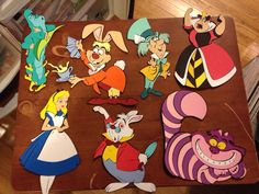 Alice in Wonderland Character Die cuts set of 7 by ScrappinBJs