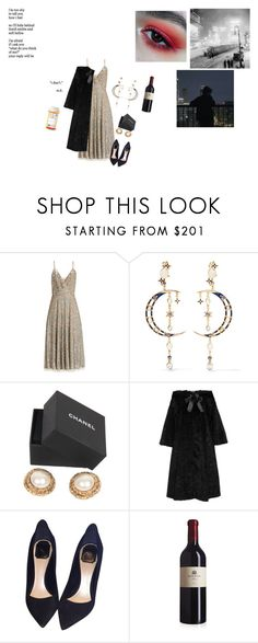 """""""evenings in Washington"""" by arisakha ❤ liked on Polyvore featuring GET LOST, Reverie, Valentino, Diego Percossi Papi, Chanel, Alexander McQueen and Christian Dior"""