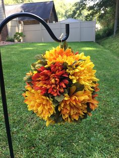 Your place to buy and sell all things handmade Grave Flowers, Cemetery Flowers, Funeral Flowers, Cemetery Decorations, Fall Decorations, Fall Flower Arrangements, Christmas Arrangements, Outdoor Landscaping, Outdoor Beds