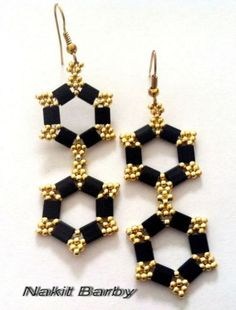 Earrings with tila beads by NakitBarby