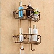 Bathroom+Shelf+Antique+Bronze+Wall+Mounted+24*12*39cm(9.5*4.72*15inch)+Brass+Antique+–+AUD+$+85.89