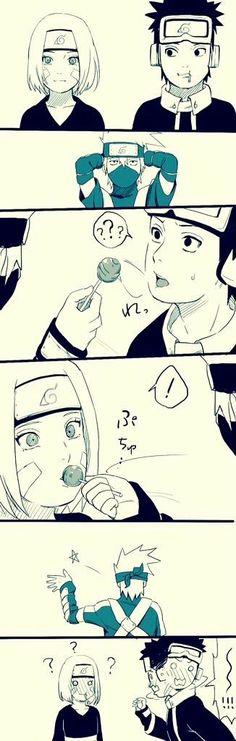 Hoooooooooooooooooooooo kakashi cupidooooo like a Mother fucker Boss Naruto Shippuden Sasuke, Naruto Kakashi, Anime Naruto, Naruto Comic, Tenten Y Neji, Naruko Uzumaki, Naruto Teams, Naruto Cute, Wallpaper Naruto Shippuden