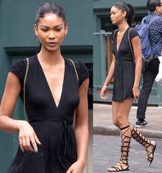 Chanel Iman out and about in Soho on June 27, 2016