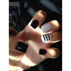 40 Classy Black Nail Art Designs for Hot Women ❤ liked on Polyvore featuring beauty products, nail care, nail treatments, nails, nail art, beauty and makeup