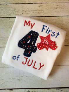 My 1st Fourth of July Shirt  4th of July Shirt by OurLilBowtique, $25.00