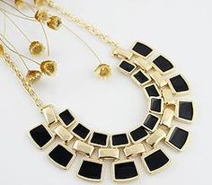 New Coming Gold Alloy Fashionable Hollow Out Enamel Punk Statement Necklaces for Women Gift-in Chain Necklaces from Jewelry on Aliexpress. Jewelry Party, Cute Jewelry, Women Jewelry, Costume Jewelry, Fashion Necklace, Fashion Jewelry, Collar Chain, Crystal Choker, Aliexpress