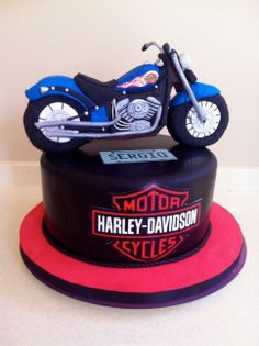 Tarta Harley Davidson en fondant