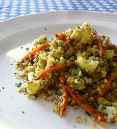 For Love of the Table: Freekeh Pilaf with Sautéed Cauliflower, Parsley, Capers & Golden Raisins