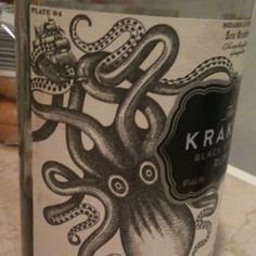 I saw this bottle with my mom last week and thought what a cool tattoo it would make ... for someone who wants the KRACKEN on them forever ...